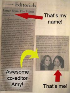 My college Letter From the Editor